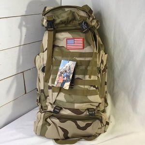 NEW Rucksack Backpack Tan Camo USA Lightweight 45L